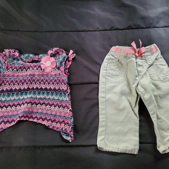 girl 18 mo khaki pants and top